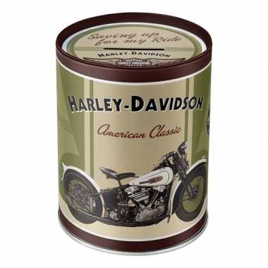 Ronde spaarpot Harley Davidson American Classic 13 cm bestellen