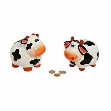Schattige koeien spaarpot 12 cm bestellen