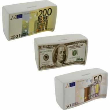 Spaarpot 100 euro karamisch 16.5 cm bestellen
