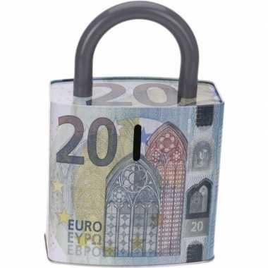 Spaarpot 20 eurobiljet 25 cm bestellen