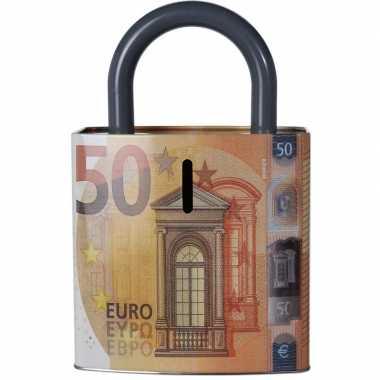 Spaarpot 50 eurobiljet 25 cm bestellen