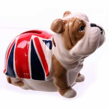Spaarpot Bulldog met Engeland vlag bestellen