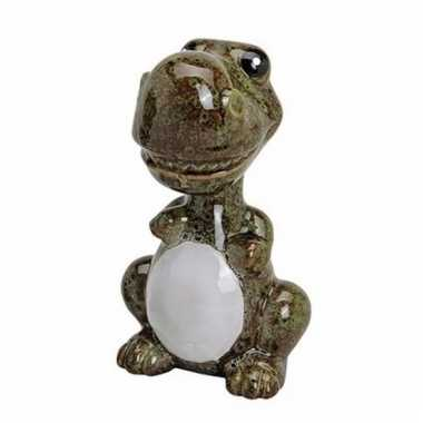 Spaarpot dinosaurus groen/bruin 18 cm bestellen