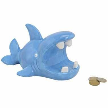 Spaarpot haai blauw bestellen