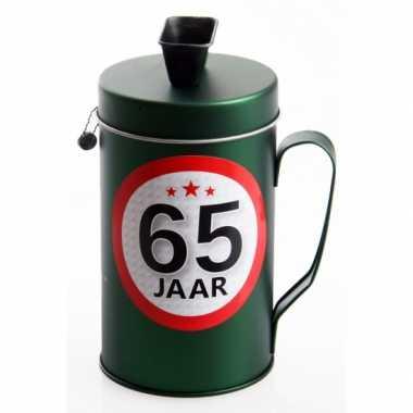 Spaarpot kado voor een 65 jarige bestellen