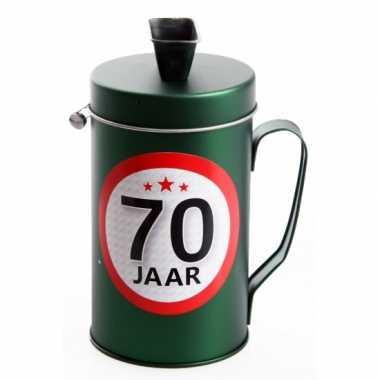 Spaarpot kado voor een 70 jarige bestellen