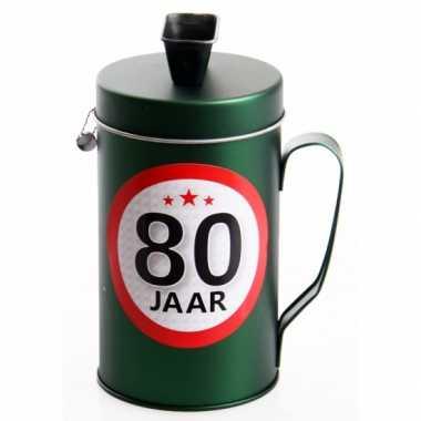 Spaarpot kado voor een 80 jarige bestellen