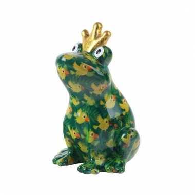 Spaarpot kikker met kroontje groen 22 cm type 5 bestellen
