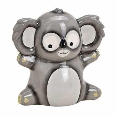 Spaarpot koala grijs 18 cm bestellen