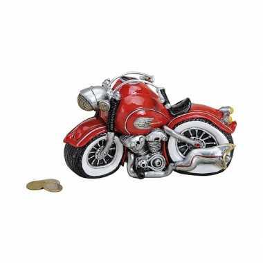 Spaarpot motor rood 21 cm bestellen