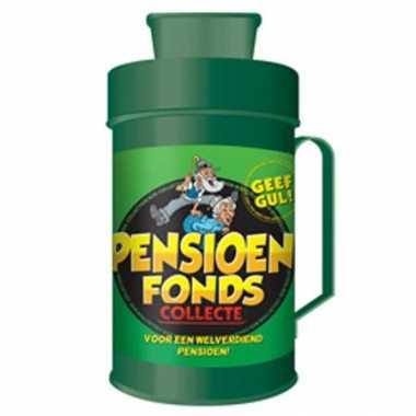 Spaarpot pensioen bestellen