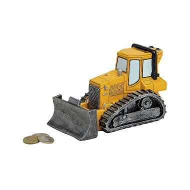 Spaarpot van een bulldozer 17 cm bestellen