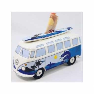 Spaarpot Volkswagenbus met surfplank op het dak bestellen