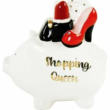 Spaarrpot varken shopping queen 17 cm bestellen
