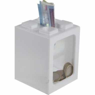 Stapel spaarpotje wit 11 cm bestellen