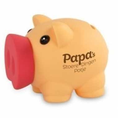 Vaderdag/verjaardag spaarvarken spaarpot papas stoere dingen potje be