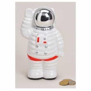 Witte astronauten spaarpot 18 cm