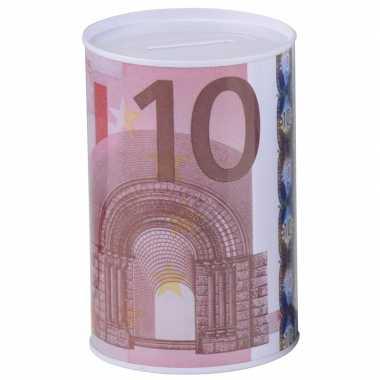 Witte spaarpot 10 euro 13 x 15 cm bestellen