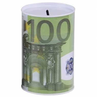 Witte spaarpot 100 euro 8 x 13 cm bestellen