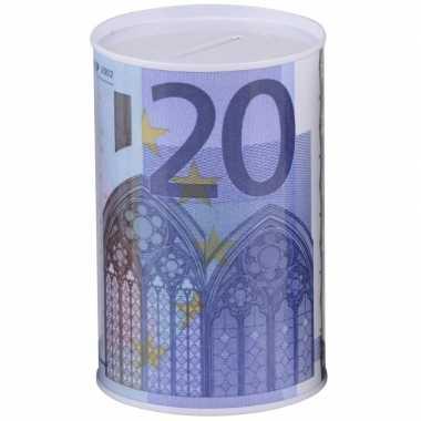 Witte spaarpot 20 euro 8 x 13 cm bestellen