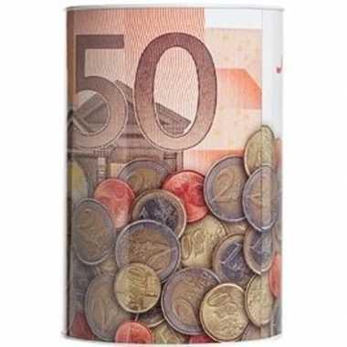Witte spaarpot 50 euro 15 x 22 cm bestellen