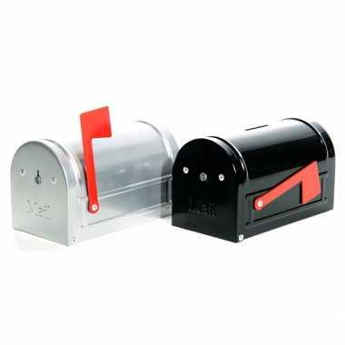 Zwarte brievenbus spaarpot 15 cm bestellen