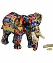 Blauwe olifanten spaarpot 22 cm