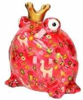 Kado mega spaarpot kikker roze 28 cm 10115168