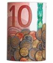 Rode geld spaarpot 10 euro 10 x 15 cm