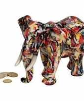 Rode olifanten spaarpot 22 cm